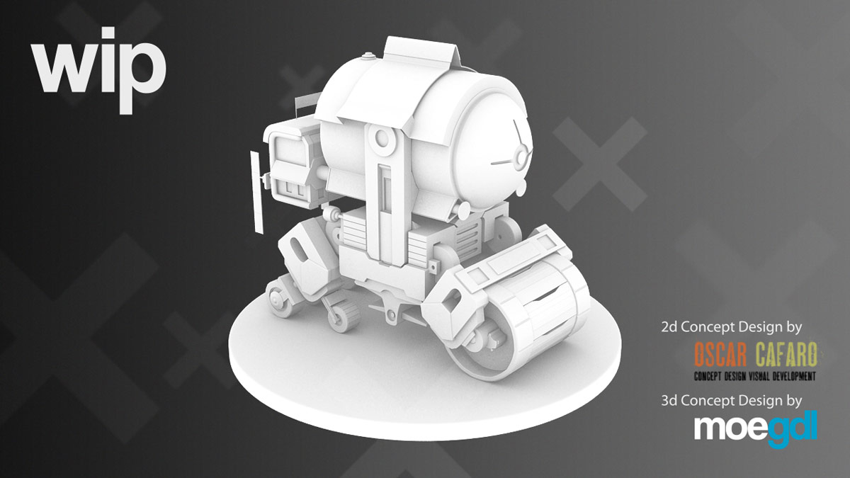 3d vehicle model by moegdl (Concept by Oscar Cafaro)