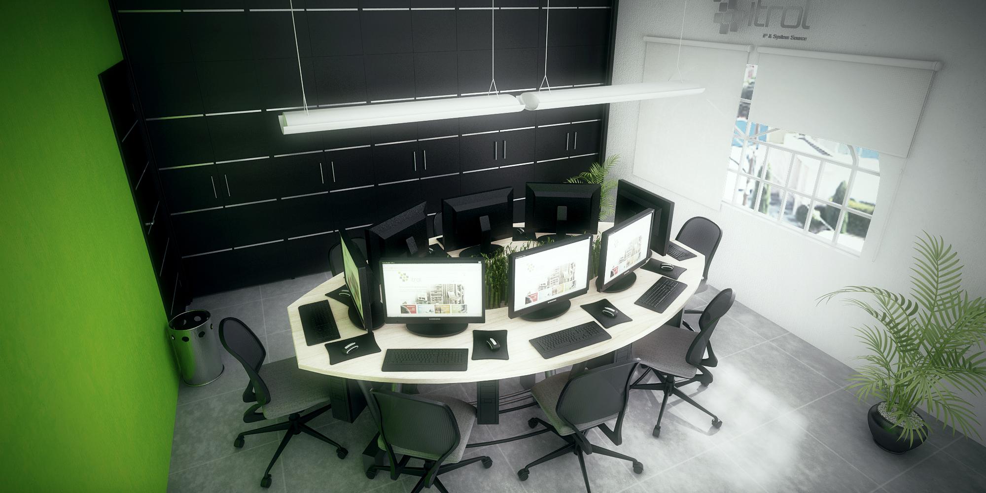Render Interior Oficinas Itrol - moegdl