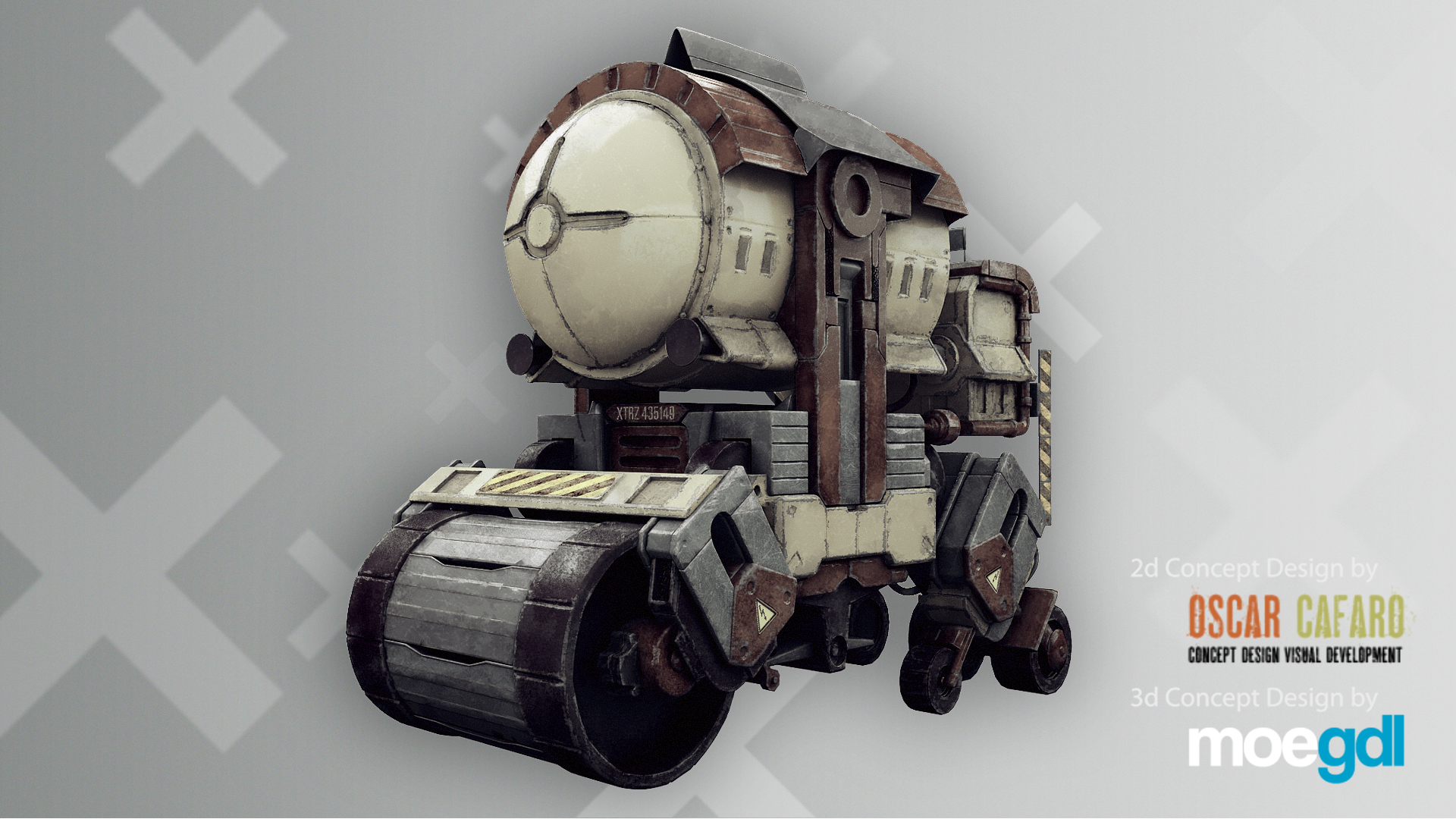 Hard Surface Texturing by moegdl, 2d concept by Oscar Cafaro (Final Render)