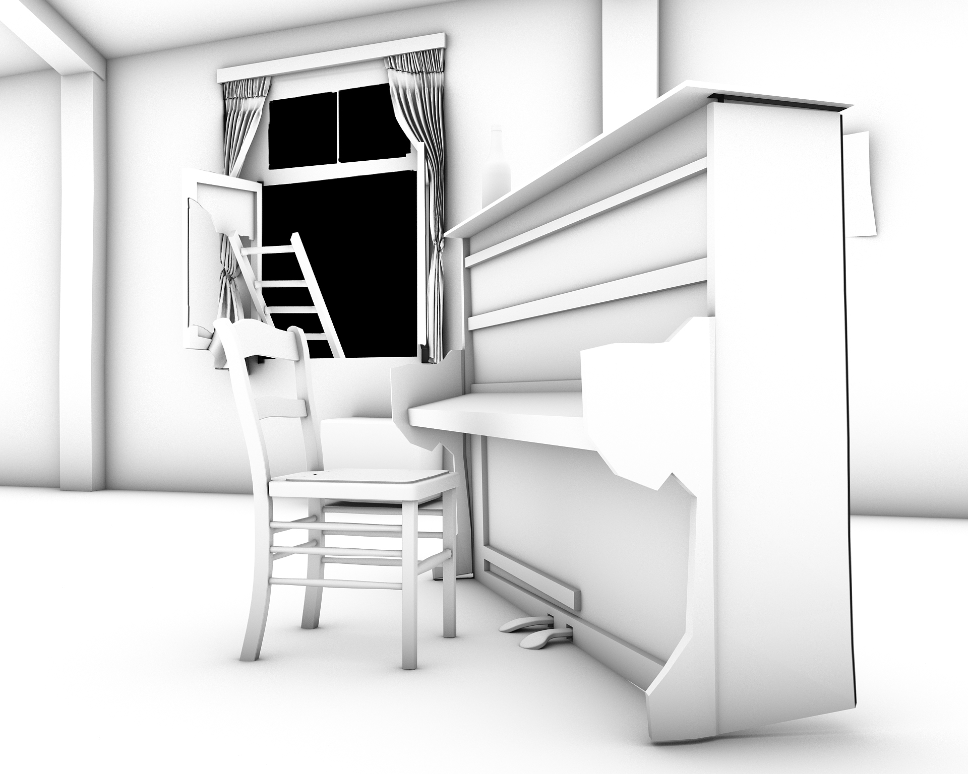 Render Animation Piano Bar