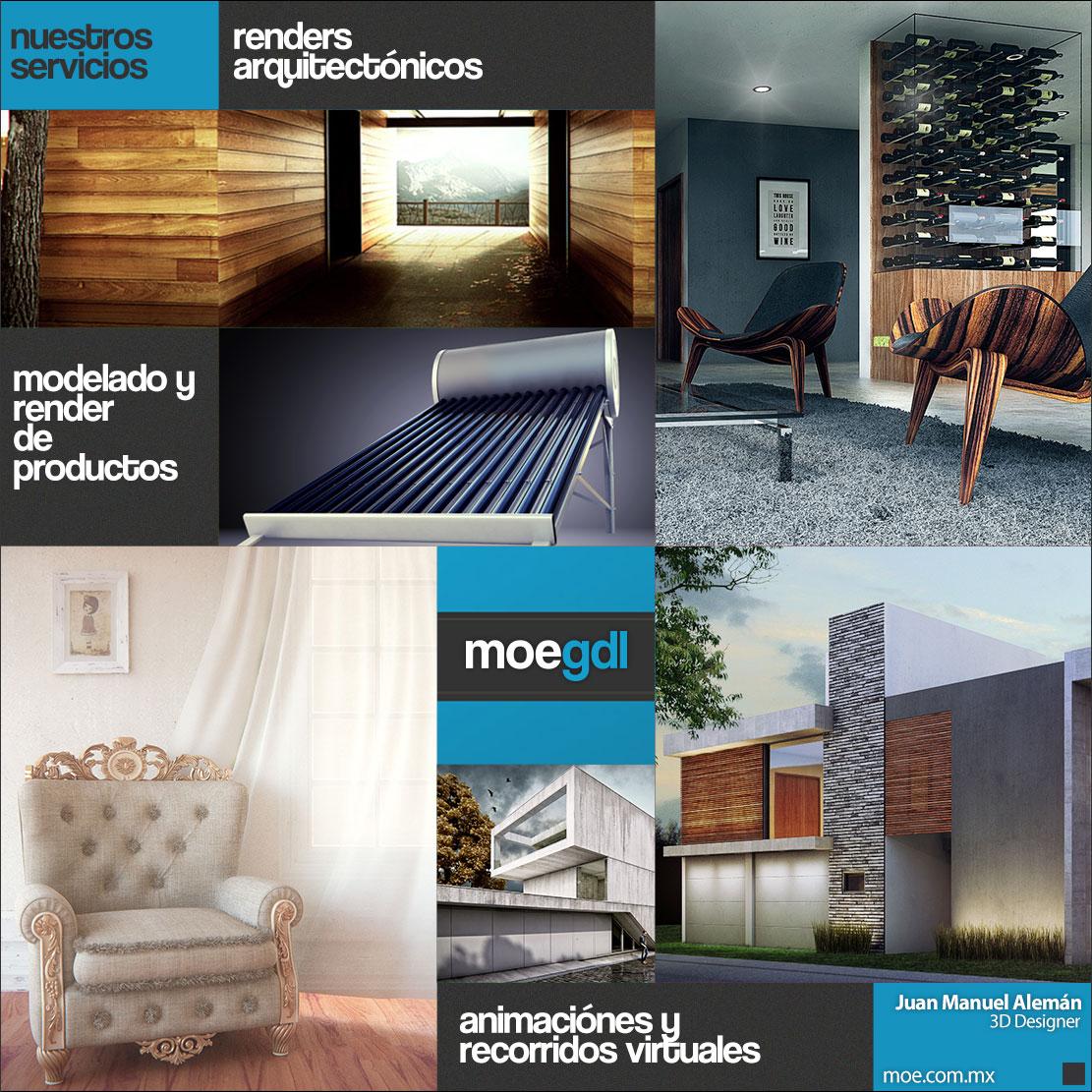 Render Arquitectónicos Modelado de Productos Render de Productos Animaciónes 3D Recorridos Virtuales