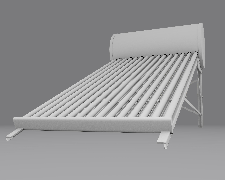 Render de Productos: Calentador Solar