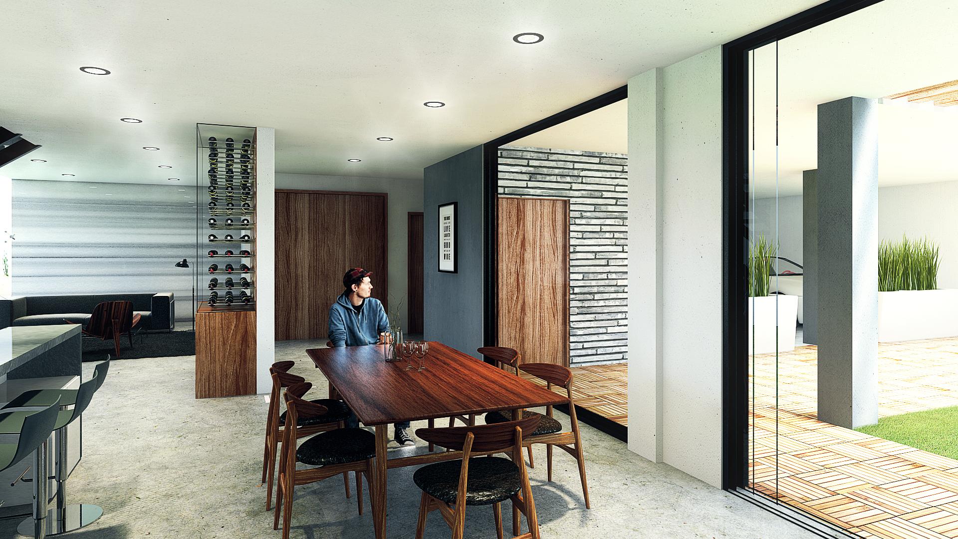 Render arquitectura casa villa v for Casa interior