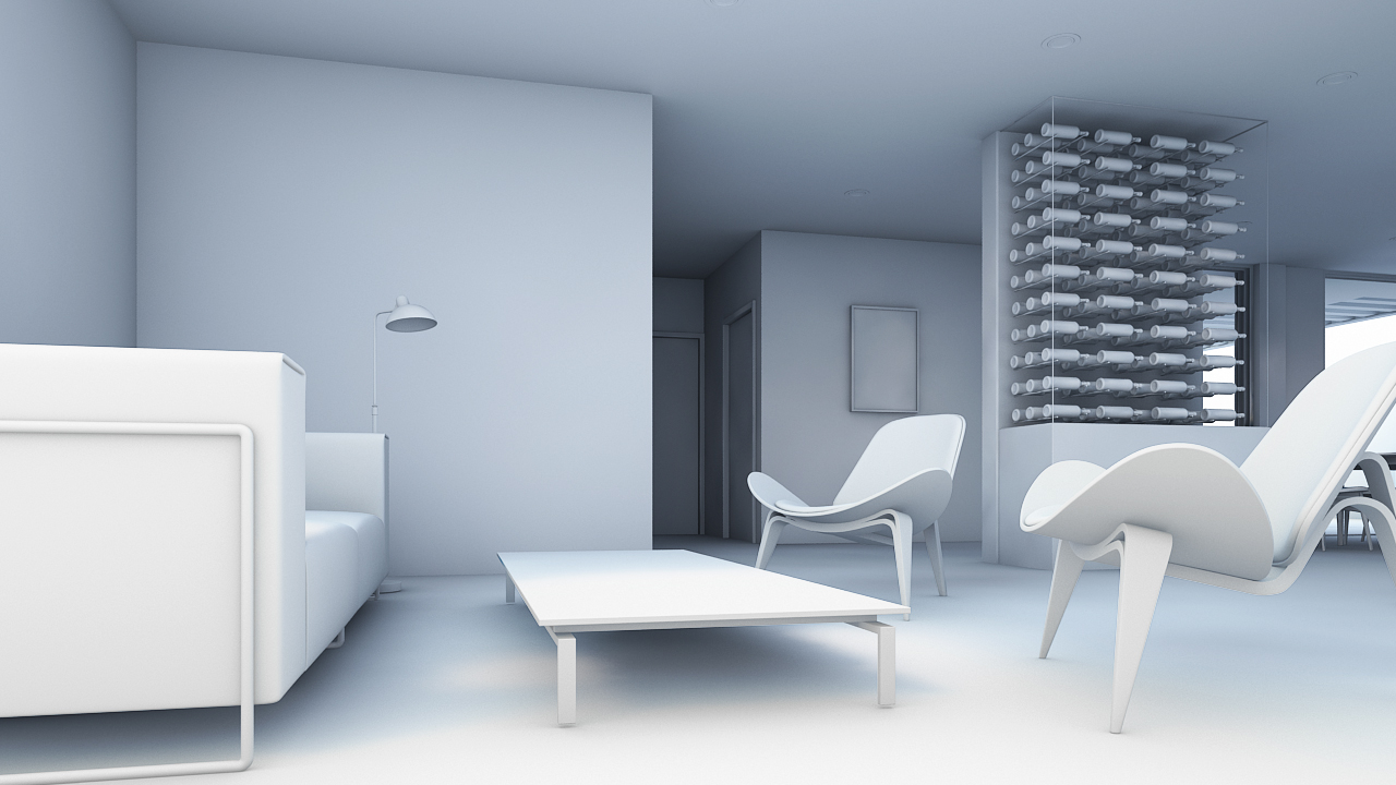 Render Arquitectura Sala (Light Balance)