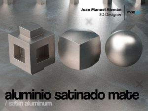aluminio satinado mate / satin aluminum