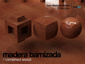 madera barnizada / varnished wood