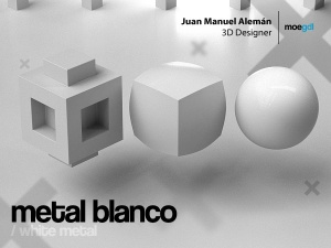 metal blanco / white metal