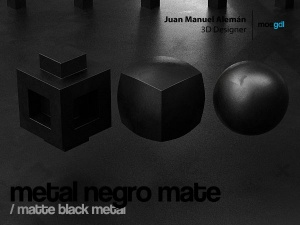 metal negro mate / matte black metal
