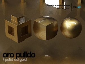 oro pulido / polished gold