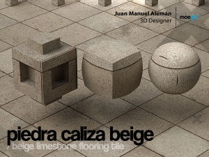 piedra caliza beige / beige limestone flooring tile