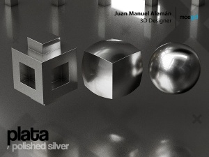 plata / polished silver