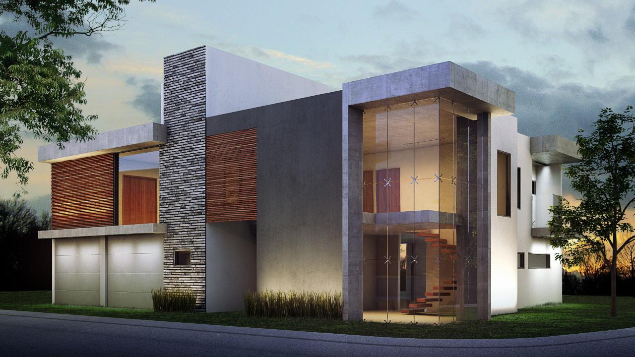 3d render portfolio moegdl for Exterior de casas