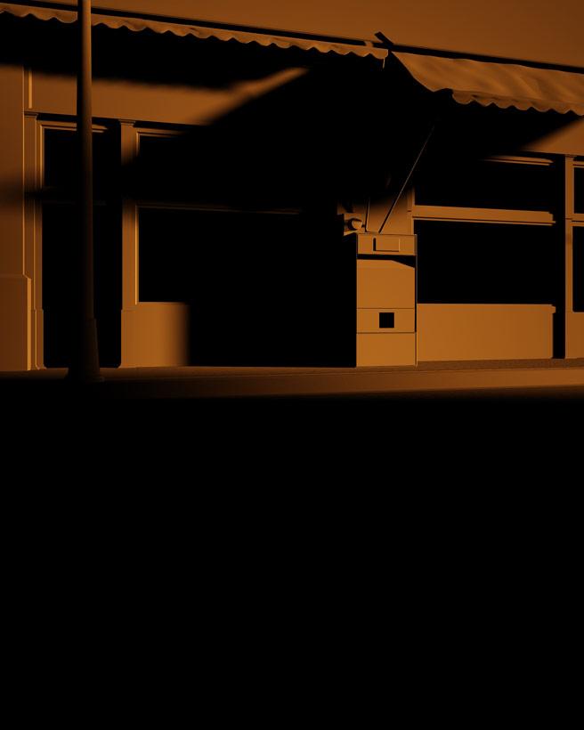 Render Exterior Central Kebab House Light - moegdl