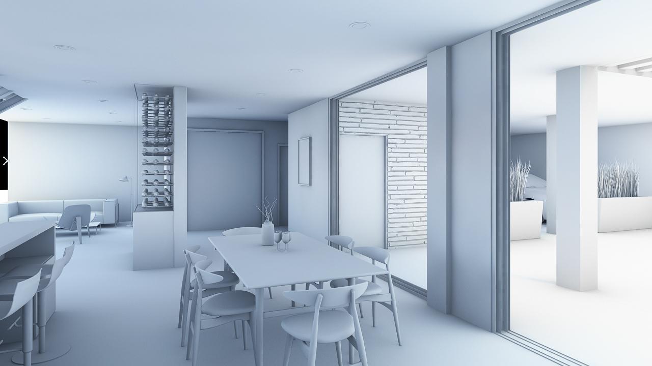 Render Arquitectura Comedor (Light Balance)