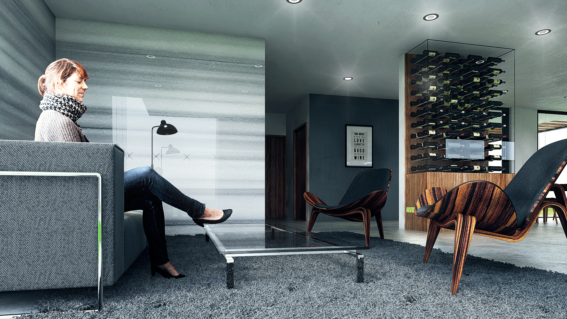 Render Arquitectura Sala
